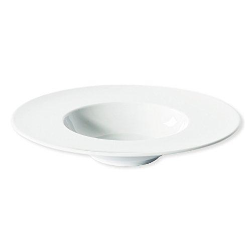 Bruno Evrard Assiette à Risotto Blanche en Porcelaine 27cm - Lot de 6 - Bello
