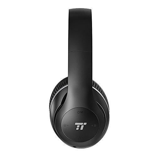 TaoTronics Bluetooth Kopfhörer Over Ear Headset mit leichtem Rückstellschaum Ohrpolster & Dual 40mm Treiber, 15 Stunden Spielzeit, EQ Bass, 3,5 mm AUX, On-Ear Steuerung thumbnail