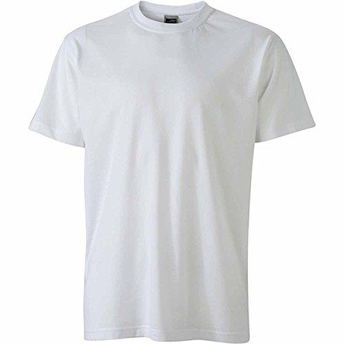JAMES & NICHOLSON Herren T-Shirt, Einfarbig Weiß