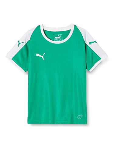 PUMA Liga JSY Jr Camiseta de Fútbol con Manga Corta, Unisex Niños, Verde Pepper Green/White, 164