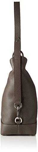 Bogner Damen Folina Schultertasche, 15x29,5x27 cm Grau (Ash)
