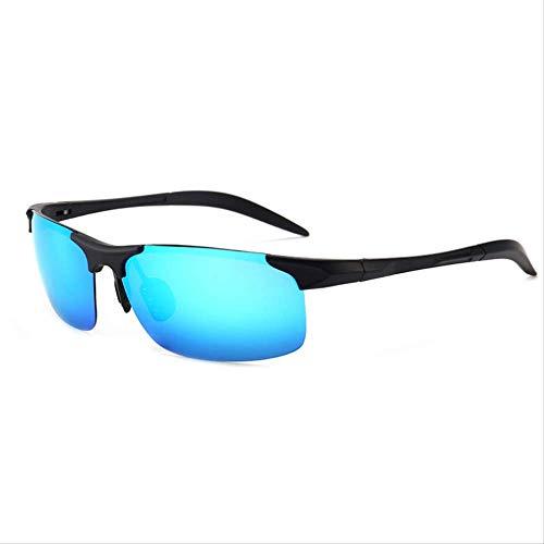 MJDL Polarisierte sonnenbrille männer fahrerspiegel uv400 hohe qualität hd sonnenbrille new fashion brand blue