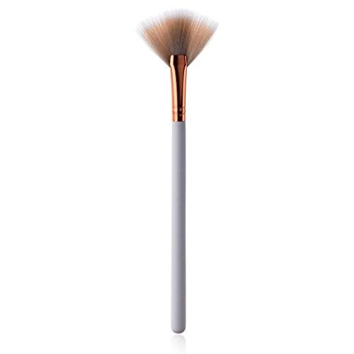 OHQ PoignéE Blanche Unique Manche En Bois Haut De Gamme Petit Pinceau Maquillage Forme D'éVentail Pinceaux Pro Set Poudre Fondation Ombre à PaupièRes Eyeliner Lip Brush Tool Ensembles Et Kits Blanc