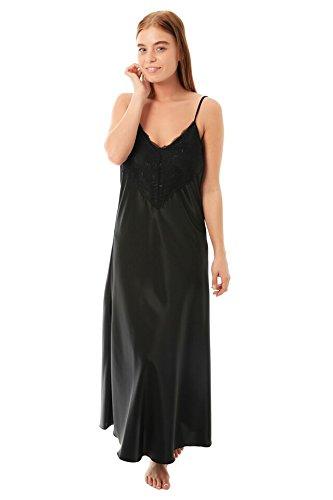 Camicia da notte da donna Black