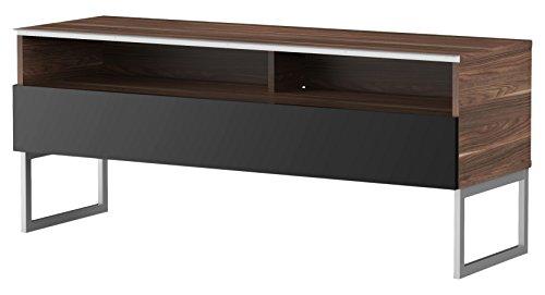Meliconi Meuble TV Bois Foncé/Noir, 45 x 132 x 15 cm