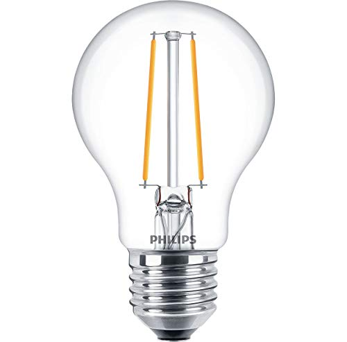 Philips Classic LEDBulb D 5.5-40W A60 E27 827 CL LED-Lampe, Filament, ersetzt 40 - Classic 5.5