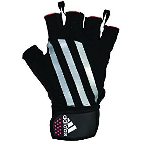 Adidas Weight Lifting - Guantes para levantamiento de pesas, color rojo/negro, talla L-XL