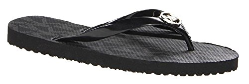 Michael Kors Jet Set Rubber Flip Flops Black (6 B(M) US, Black)