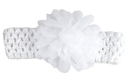 Jessidress Baby Stirnbänder Haarband Hoofdband Haarblumen Haar Blume Haarclip Clips Barrette Haarspangen Weiß