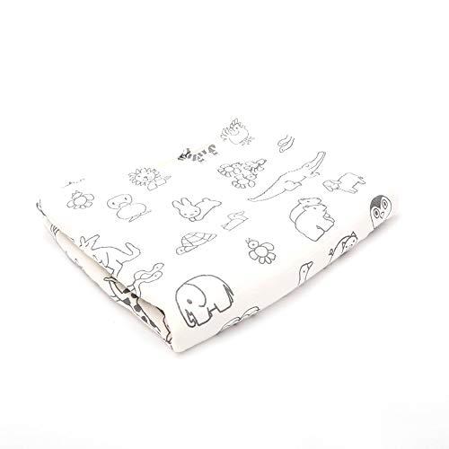 DMMASH Couvertures de bébé Coton Nouveau-né Poussette Couverture Cartoon Motif Wrap Baby Play Tapis Mousseline Swaddle Couverture,Stickfigure,120 * 140cm