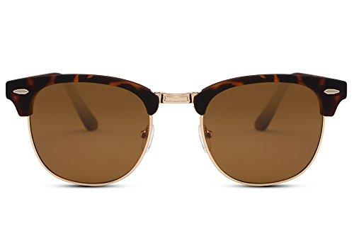 Cheapass Sonnenbrille Braun Klappbar UV400 Vintage Reisen Damen Herren