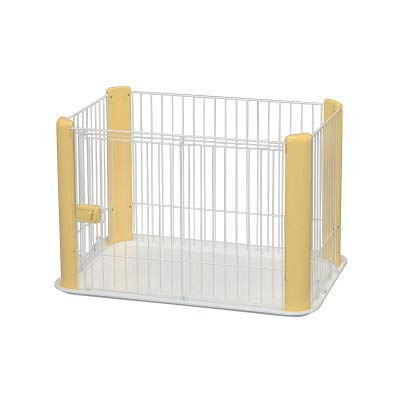 WTTTTW Haustier-Hundewelpen-Katzen-Übungs-Zaun-Sperren-Laufstall-Zwinger, ABS-Material im Freien Innen 92 * 63 * 60CM,Yellow -