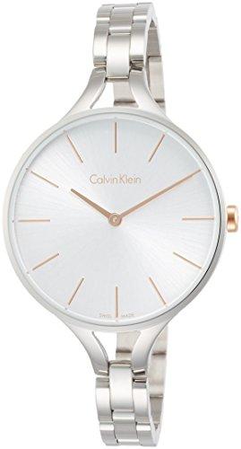 Calvin Klein Damen Analog Quarz Uhr mit Edelstahl Armband K7E23B46
