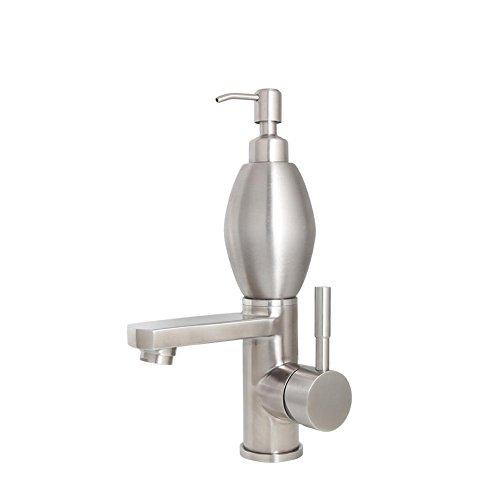 Waschtischarmatur Edelstahl mit Hand Sanitizer Flasche 2 in 1 Waschbecken Wasserhahn , wire drawing -