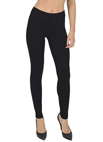 Women's High Waisted Full Length Cotton Leggings By Today Is Her ® Extra Comfort Range, Plus Sizes