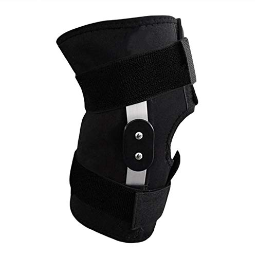 0044020d25 Adjustable Hinged Full Knee Support Brace Knee Protection Sport Injury Knee  Pads Safety Guard Strap For