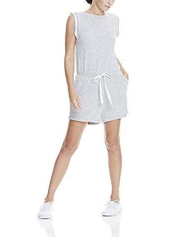 Bench Damen Short Sweat Jumpsuit Grau (Summer Grey Marl MA1026), 38 (Herstellergröße: M)