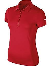 Nike Golf Femmes Victory Solid Polo - 4 Couleurs - Rouge Université, L / 96-101cm