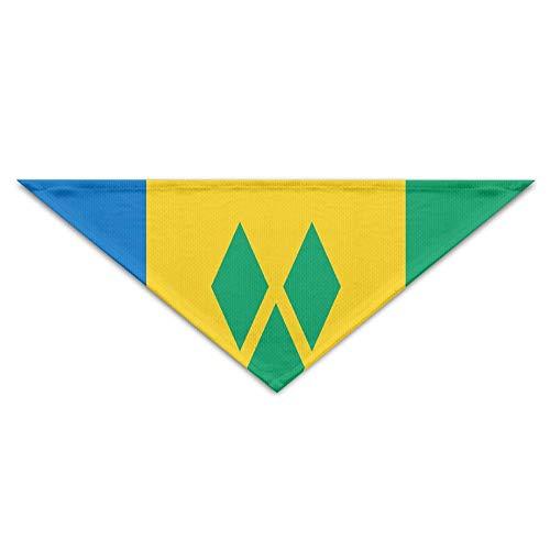 BigHappyShop Saint Vincent and The Grenadines Flag Pet Scarf Dog Neckerchief Puppy Triangle Triangle Bibs Scarfs for Pet Dogs (Vincent Valentine Kostüm)