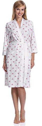 Italian Fashion IF Robe de Chambre Femme Aries Ecru/Baie