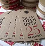 New Do not open until 25th December Luggage Gift Tags x 6