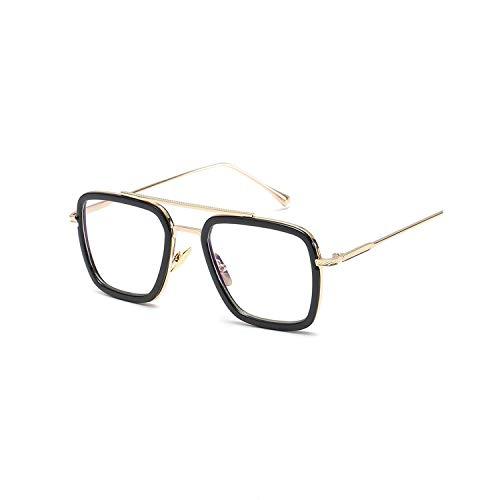 DEER HOUSE Sonnenbrille Herren Metall verspiegelt quadratisch Sonnenbrille Retro Vintage Eyewear Gr. Einheitsgröße, A6
