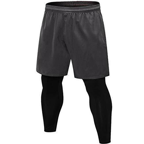 Falso Dos Pantalones Pantalones Fitness Entrenamiento