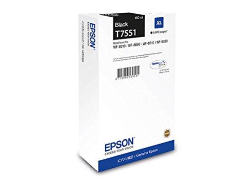 Preisvergleich Produktbild Epson original - Epson WorkForce Pro WF-8590 DTWF (T7551 / C 13 T 755140) - Tintenpatrone schwarz - 5.000 Seiten - 100ml