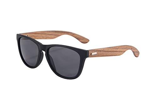 SHINU Wooden Wayfarer-Sonnenbrille UV400 bunten Flash-Spiegel-Objektiv-Holz Brillen-Z6100 (c7)