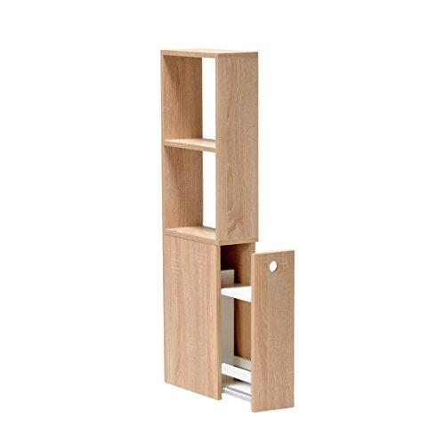 WEBER INDUSTRIES Meuble de Toilettes avec Deux niches et Un tiroir de Rangement de Couleur chêne Sonoma, Bois, Blanchi, 3,5x1,5 mètres