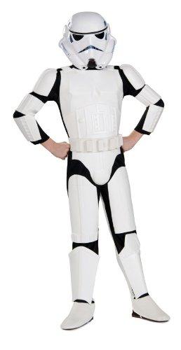 Star Wars Deluxe Kinder Kostüm Stormtrooper - Größe L ()