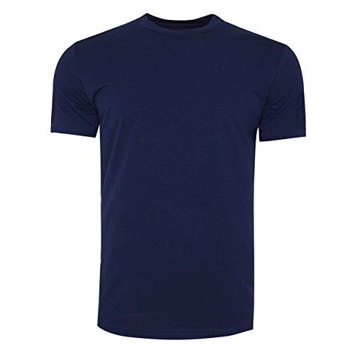 STÓR Herren T-Shirt Designer Bambus Bio Baumwolle Stoff Rundhalsausschnitt Ausgestattet Unterhemd Everyday Basics Weste Gr. Large, indigo (Short Sleeve Bamboo Tee)