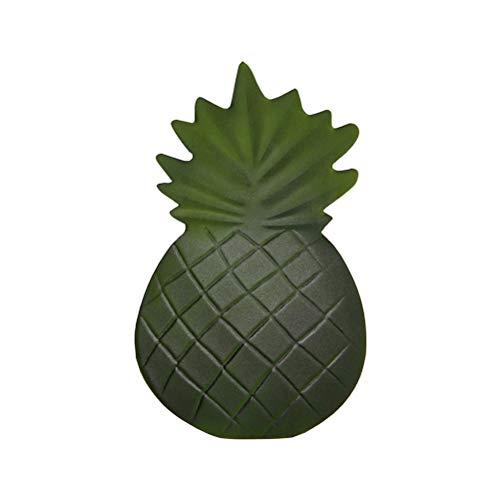 Bestonzon stuoia da tavola con forma di ananas antisdrucciolevole carino tovagliette runner per hawaiian compleanno festa di nozze decorazione della tavola forniture (verde)