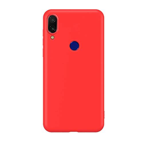 Funda Compatible con Xiaomi Mi Mix 2S, Carcasa de Silicona Líquida Gel Ultra Suave y Forro de Gamuza de Microfibra Cojín con Protector de Pantalla Caso Case Móvil para Xiaomi Mi Mix 2S-Rojo