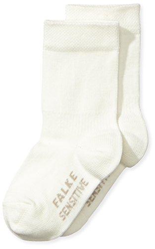 FALKE Unisex - Baby Socken Family Sensitive So, Einfarbig, Gr. 80 (Herstellergröße: 80/92), Beige (Offwhite)