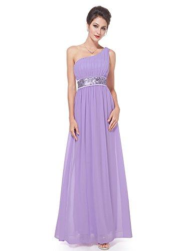 Ever Pretty Damen One Shoulder Empire Abendkleider Festkleider 09770 Lila