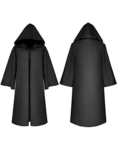 Kostüm Weiblich Assistenten - TUTOU Horror Halloween, Cosplay Scary Devil Zombie Kostüm Maske Party Death Cloak Hexenkleid,Schwarz,ChildXXL