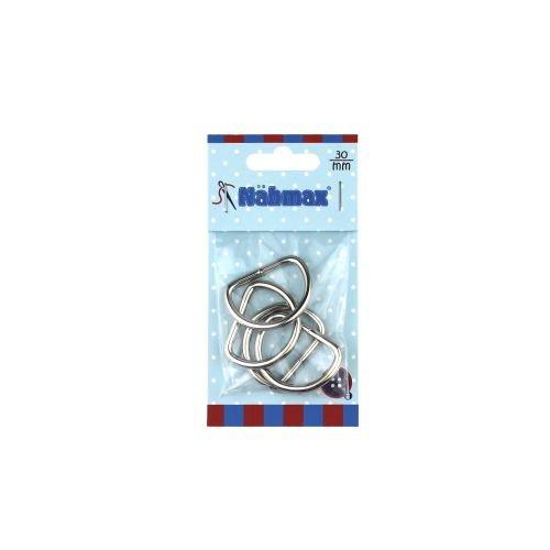 Halbrundringe 30 mm D-Ringe Metallringe 314213