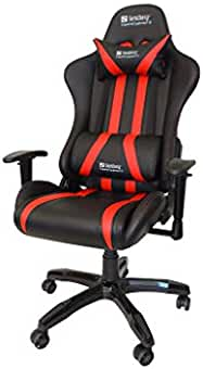 Sandberg Commander Gaming Chair Black/Red Silla, Piel, Negro/Rojo