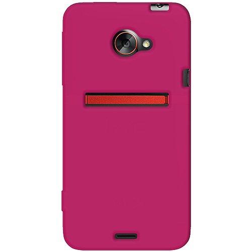 Amzer AMZ93698 Silikonhülle für HTC EVO 4G LTE und Sprint HTC EVO 4G LTE, 1 Stück, in Einzelhandelsverpackung, Hot Pink