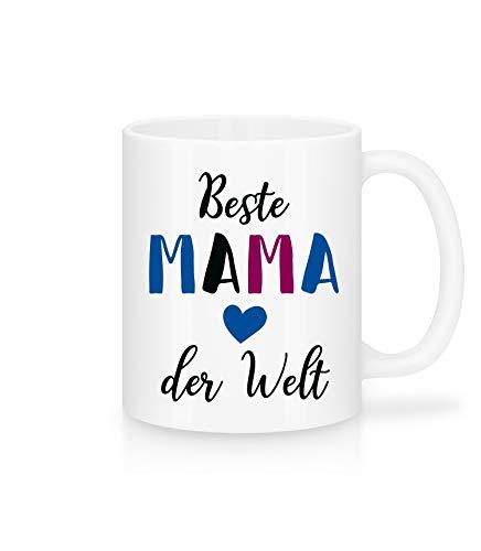 Shirtinator Tasse mit Spruch   Beste Mama der Welt   Keramik beidseitig Bedruckt   Geschenkideen Geschenk Muttertag Geburtstag Weihnachten