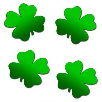 Streuteile Glücksklee, grün glänzend  - 20gr.