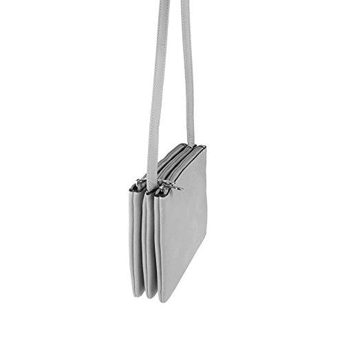 OBC italdesign DAMEN TRIO TASCHE Schultertasche Metallic Clutch ...