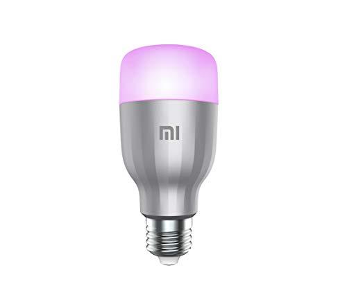 Xiaomi Mi LED Smart Bulb, Smart Home App, Alexa u. Google kompatibel, WLAN, 16 Mio. Farben, weiß, warmweiß, 10Watt, 806lm, E27, dimmbar, A+-Energieklasse