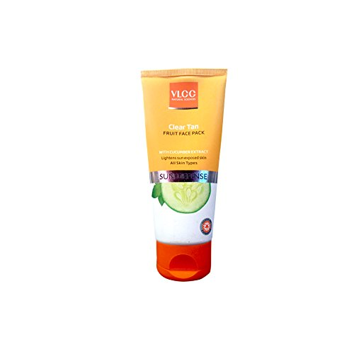 VLCC Clear Tan Sun Defense Fruit Face Pack (Cucumber Extract) 85gm with Ayur Product in Combo  available at amazon for Rs.207