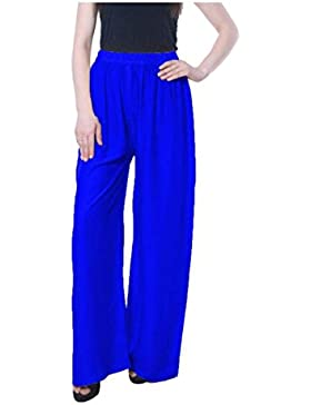 Indian Handicrfats Export Magrace Flared, Regular Fit Women's Blue Trousers