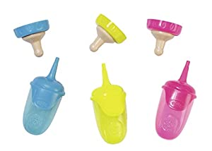 Zapf Bottle w Cap 3 Assorted Biberón de Juguete - Accesorios para muñecas (Biberón de Juguete, 3 año(s),, Baby Born, Chica, 43 cm)