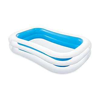 """Intex Swim Centre Family Inflatable Pool, 103"""" x 69"""" x 22"""" (Assorted Colors: Blue or Green)"""