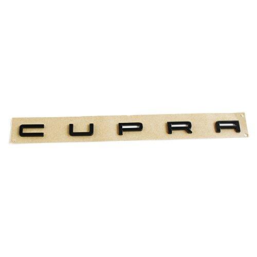Original Seat Leon (5F) Cupra Schriftzug hinten Heckklappe Tuning Emblem, schwarz glänzend