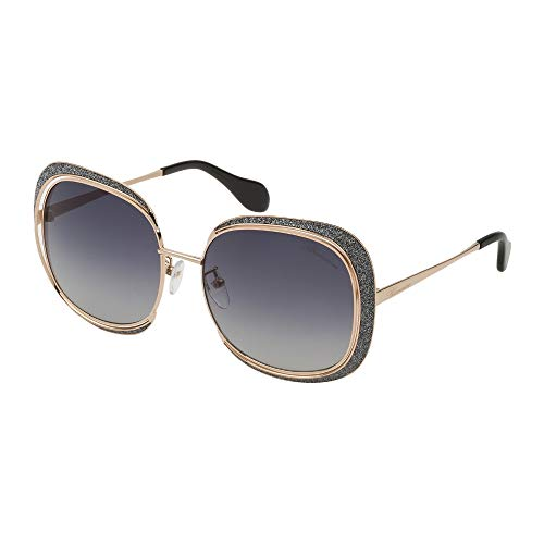 Blumarine occhiali da sole donna oro rose' lucido lenti smoke gradient sbm122 300f 59-17-135